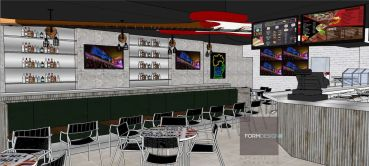 A rendering of the new Taco Rock- Falls Church.