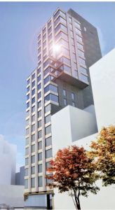 A rendering of the planned development at 202 East 23rd Street in Gramercy Park.