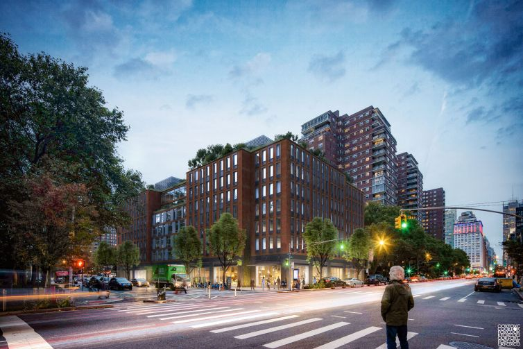 A rendering for the planned redevelopment at 335 Eighth Avenue.