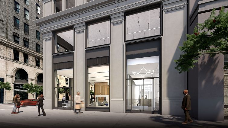 The first floor will have a cafe and lounge that serves food, coffee and cocktails for tenants.