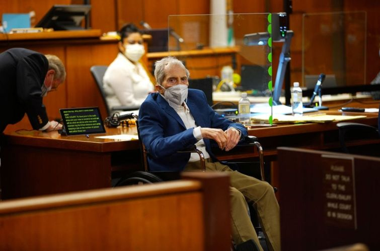 Robert Durst appears before Judge Mark E. Windham during court proceedings in his murder trial at Inglewood Courthouse on May 18, 2021 in Inglewood, California. The real estate scion has been charged with the murder of longtime friend Susan Berman in 2000. Durst's murder trial was delayed more than a year due to the Covid-19 pandemic.