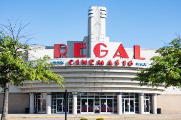Front entrance to Regal Cinemas 16.