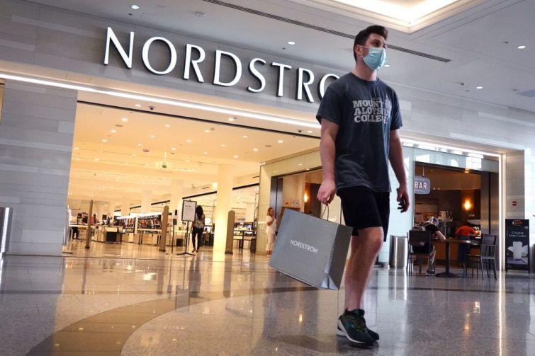 Shopper at Nordstrom