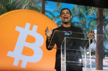 Miami Mayor Francis Suarez speaking at the Bitcoin 2021 Convention. Photo by Joe Raedle/Getty Images