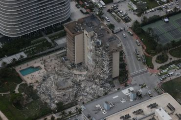 The 12-story condo tower crumbled to the ground June 24.
