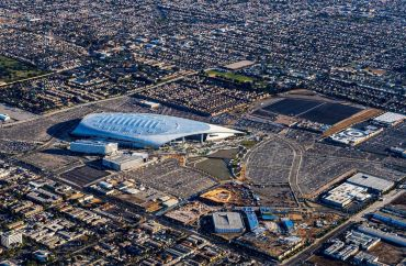 The 300-acre project, which includes the 70,000-seat SoFi Stadium — home to the L.A. Rams and L.A. Chargers.