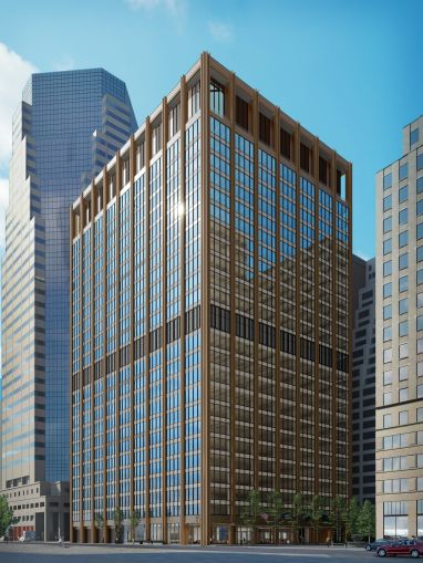 A rendering of 111 Wall Street.