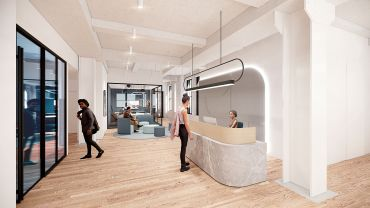 """The soup-to-nuts renovation of 149 Madison will include a few floors of prebuilt """"flexible"""" office suites that can be leased for as short a term as one year."""