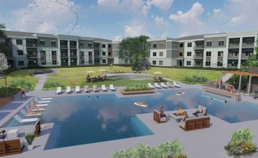 A rendering for the master plan development at Covington Town Center.