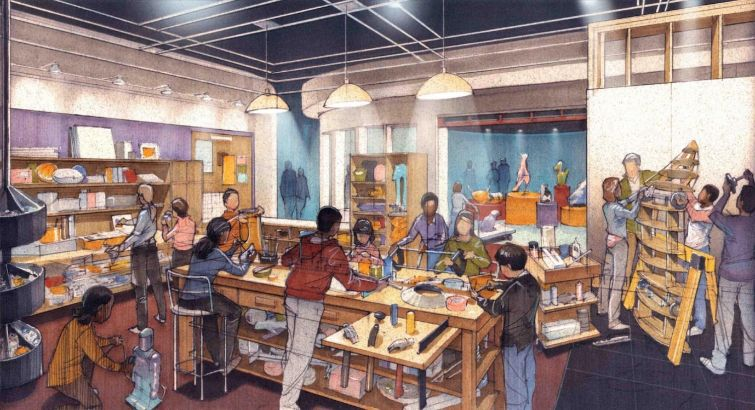 A rendering of KID Museum's new space.