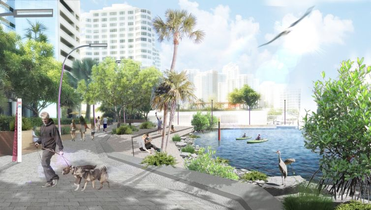 Miami Baywalk design guideline rendering. Credit: Savino Miller Design Studio