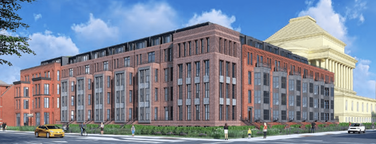 A rendering of 15th and S., a new multifamily planned in D.C.