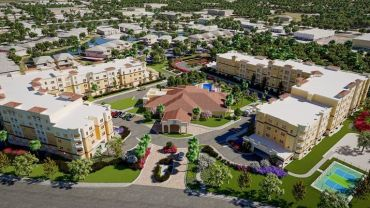 A rendering for The Alloro at University Groves in Sarasota, Fla.