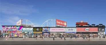 A rendering of a portion of Coney Island.