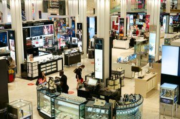 Shoppers in Macy's