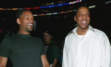 LOS ANGELES - FEBRUARY 15: (L-R) Actor Will Smith and rap artist Jay Z attend the 2004 NBA All-Star Game held at the Staples Center, February 15, 2004 in Los Angeles, California.