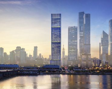 The foundation of 3 Hudson Blvd. was completed just in time for the return of NYC's leasing market. Moinian anticipates securing an anchor tenant for the building and going vertical later this year.