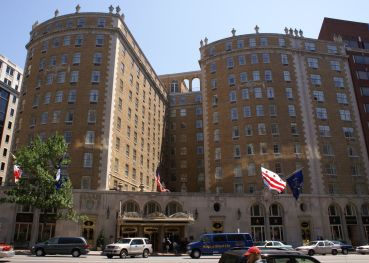 The Mayflower Hotel.