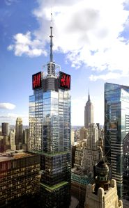 An aerial photograph of 151 West 42nd Street.