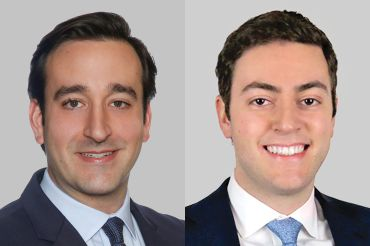 Michael Zaremski (left) and Michael Shmuely have joined JLL's New York City capital markets team.