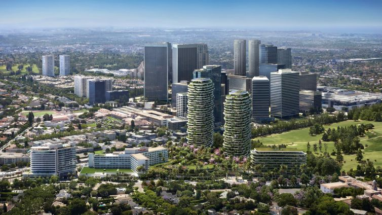 A rendering of One Beverly Hills, a mult