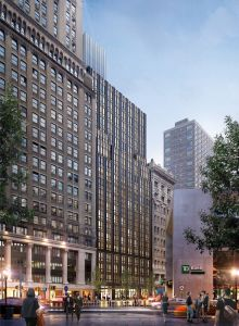 A rendering for Mixtown Equities' planned 20-story residential tower at 200 Montague Street in Brooklyn.