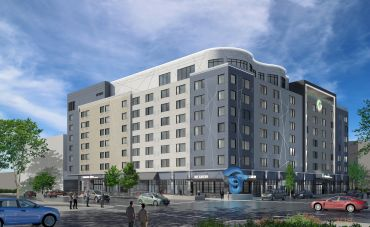 A rendering of the dual-SpringHill Suites and Element by Westin Marriott hotel in Colorado Springs that's currently under development.