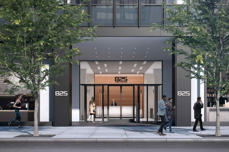 The entrance and lobby of 825 Third are also getting a complete revamp.