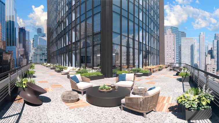 Some mechanical space on the 12th floor is being converted to a terrace.