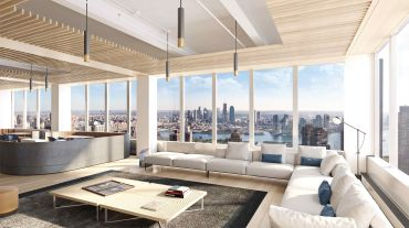 Durst's $150 million renovation of 825 Third Avenue included a new amenity and conference center.