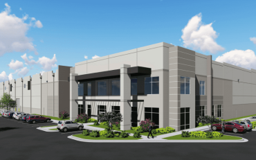 A rendering for the Core5 Logistics Center acquired by Thor Equities.