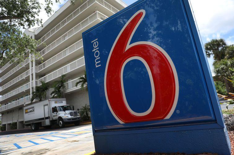 Motel 6 signage.