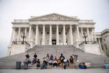 Reps. Cori Bush slept on the Capitol steps for three nights to protest the expiration of the CDC eviction ban.