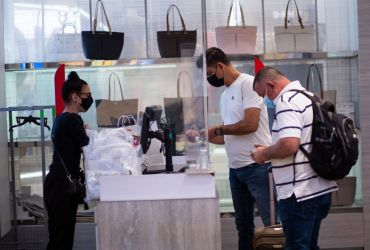 People shopping in Macy's