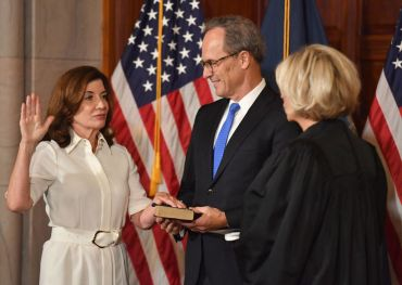 Gov. Kathy Hochul was sworn into office on Aug. 24, 2021.