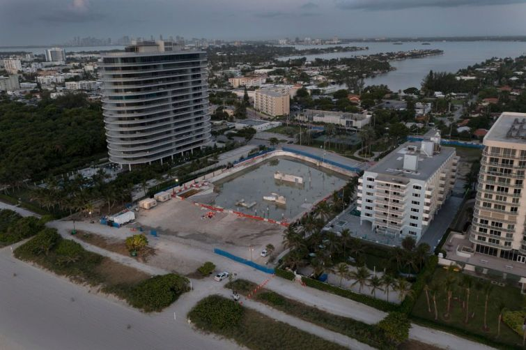 Site of the collapsed Champlain Towers South  condo in Surfside, Fla.