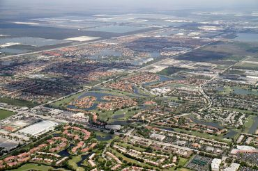 Aerial view of Doral, Fla.