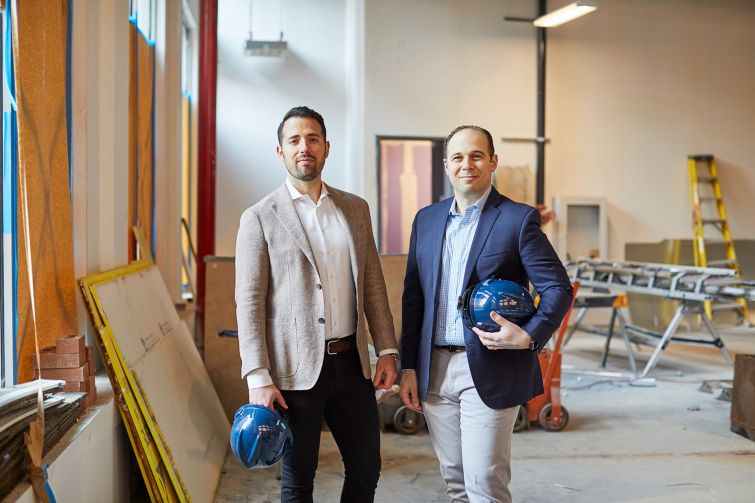 Jared Chassen and Jeffrey Simpson of Arch Companies at 11 Greene Street.