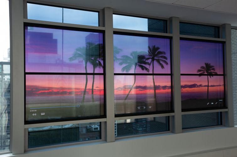 New windows manufactured by View allow tenants to customize the tint of their windows, and for an extra fee, they can add video enabled windows that can be controlled from a phone, tablet or laptop.