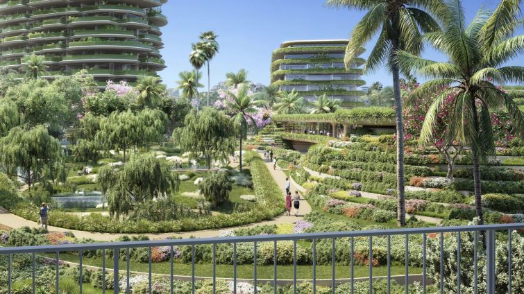 A rendering of One Beverly Hills,