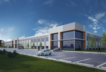 A rendering for Cash Corporate Life Sciences Park in Apex, N.C.