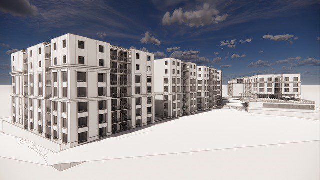 A rendering of the planned development at 1701 East Boulevard in Charlotte.