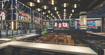 Rendering of Sports & Social Bethesda at Pike & Rose.