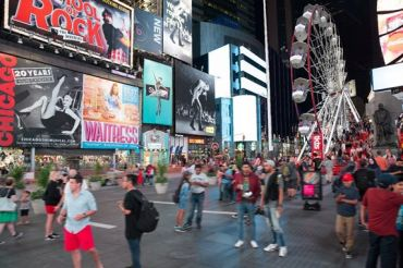 Rendering of the Times Square Ferris Wheel.