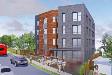 Rendering of the 17 Mississippi Avenue Apartments.