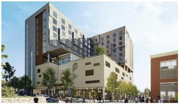 A rendering of The Printing House Hotel, a Hilton Tapestry Collection hotel.