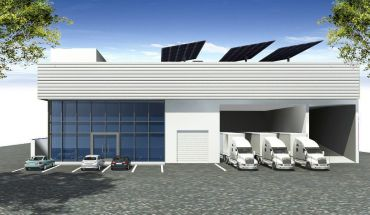 A rendering of the planned light industrial development at 13007 Yukon Avenue in Hawthorne, Calif.