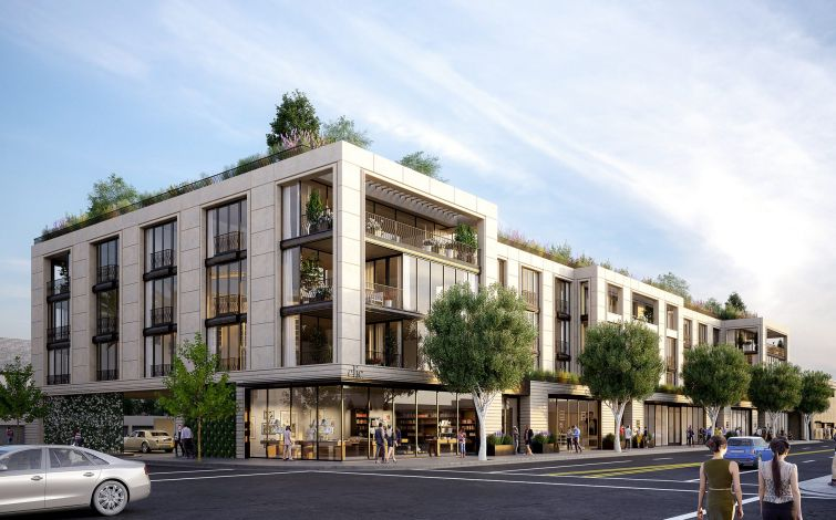 The four-story building with about 90,000 square feet will house 17 custom residences.