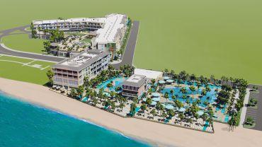A rendering of the Margaritaville Resort Fort Myers Beach.