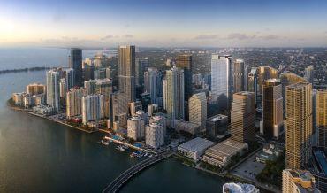 Miami's skyline, which includes the 830 Brickell development.